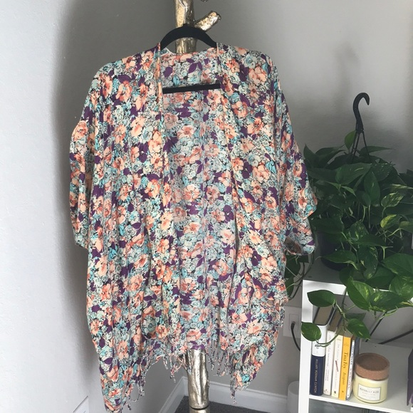 LF Other - LF floral oversized cover up
